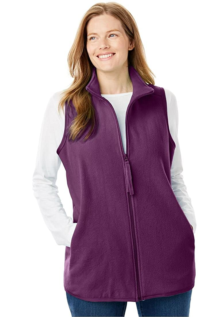 Women's Plus Size Vest In Soft, Cozy Anti-Pilling Fleece Woman Within