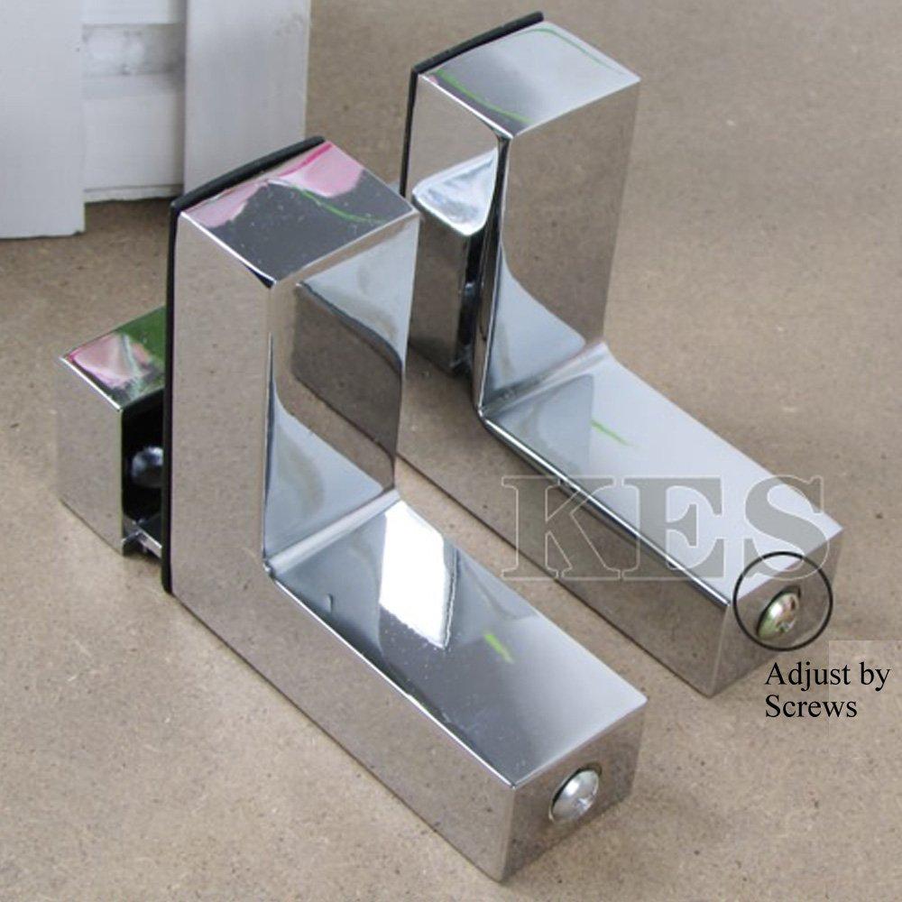Heavy duty adjustable shelf brackets - Kes Hsb301a P2 Solid Metal Adjustable Wood Glass Shelf Bracket Wall Mount 2 Pcs