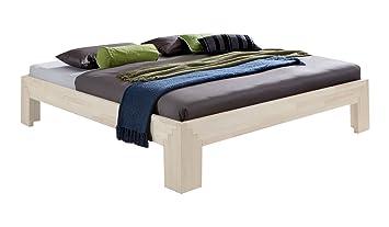 Massivholz Bett Selina Weiß 160 X 200 Cm Aus Kernbuche, Holzbett, Als Doppel
