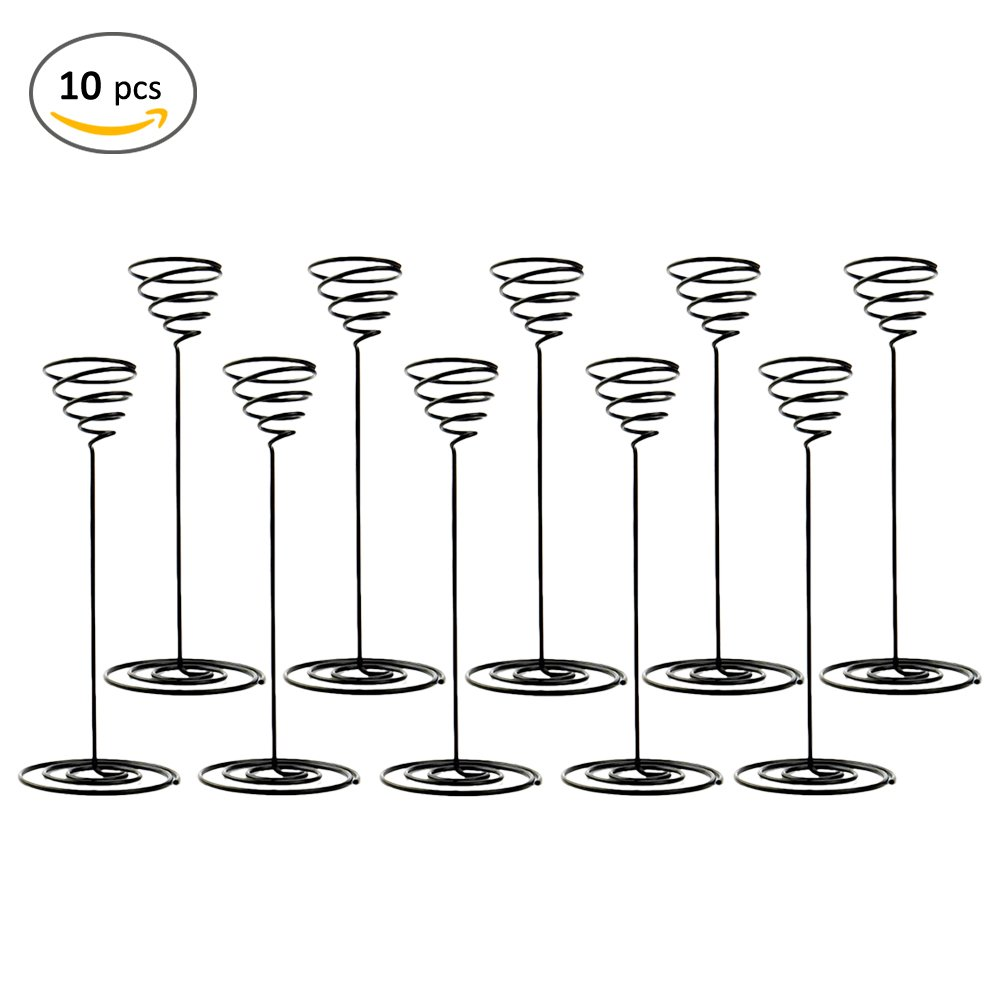 Airplant Stand,Sundlight 10PCS Iron Air Plant Container Tabletop Tillandsia Flower Holder Display Racks with Base for Home,Office,Garden Decor,2.5mm x 73mm x 190mm