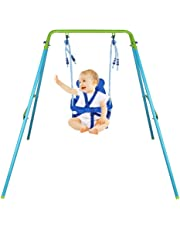 Folding Portable Nursery Toddler Swing Lovely Safety Seat Baby Boy Girl