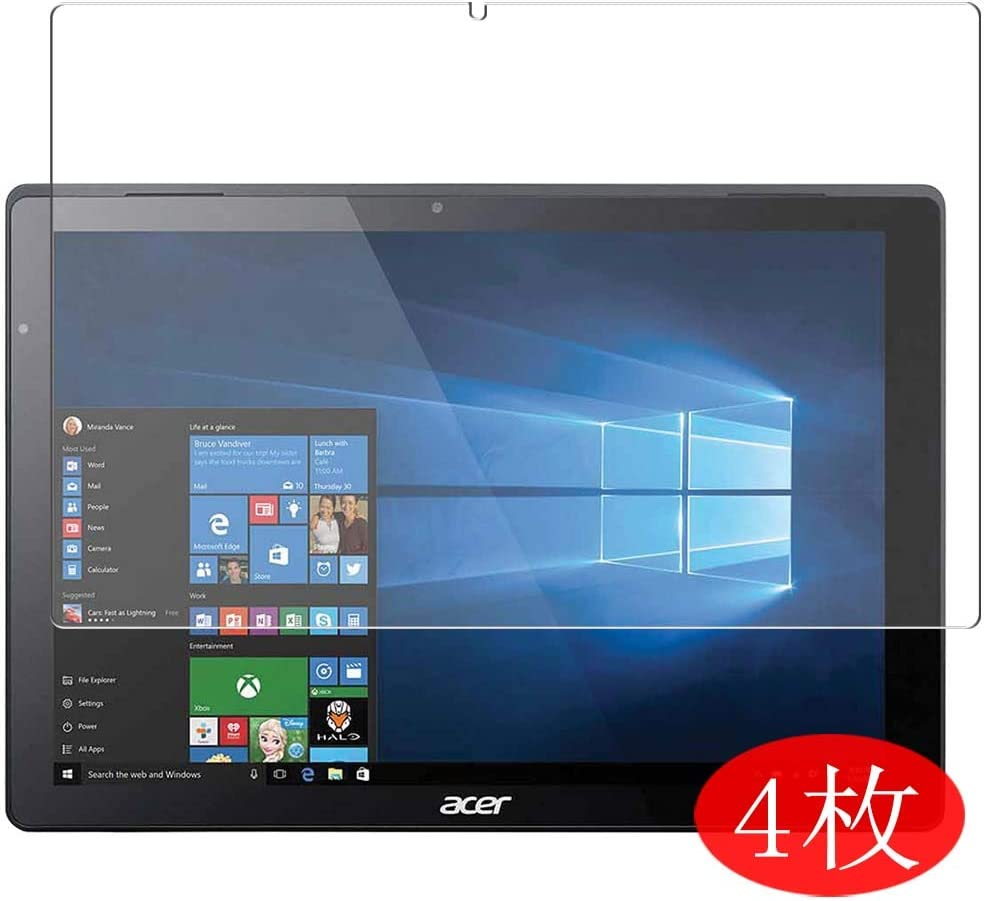 "【4 Pack】 Synvy Screen Protector for Acer Switch Alpha 12 12"" SA5-271-F58U/F 0.14mm TPU Flexible HD Clear Case-Friendly Film Protective Protectors [Not Tempered Glass] New Version"