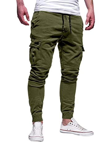 C/&H Mens Athletic Camouflage Print Jogger Casual Elastic Waist Outdoor Long Pants