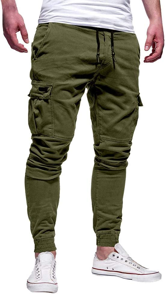 beautyjourney Pantalones de chándal elásticos para Hombre Leggings ...