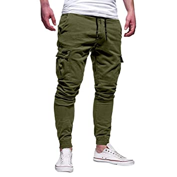 32742dba4 Image Unavailable. Image not available for. Color: 2019 Latest Hot Style!  Teresamoon Fashion Men's Sport Pure Color Bandage Casual Loose Sweatpants  ...