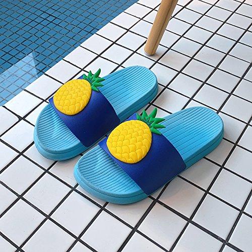 Terreno Fuera 38 Sandalias y de Cute la Mujeres Zapatillas Verano fankou hogar Piña Parejas y de casa Cool Dentro Las Baños Azul Blando Personalizadas casa qUBYWW5
