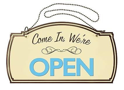 Cartel boutique de doble cara abierto/cerrado, accesorios ...