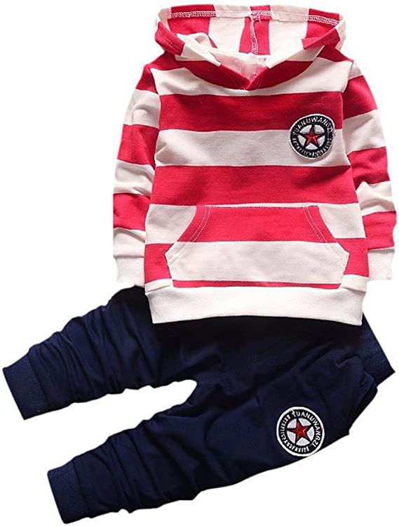 Wongfon - Conjunto de ropa deportiva para niño, camiseta de manga ...