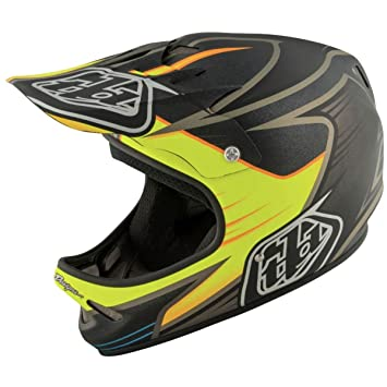 Troy Lee Designs pulso adulto D2 bicicleta deportes casco de BMX, color negro