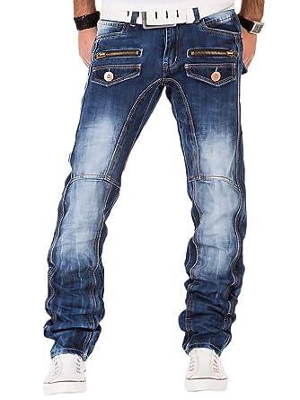 Vintage Blau Hose Lupo Herren Kosmo Denim Clubwear Jeans Used Chino Japan Style 6bygf7