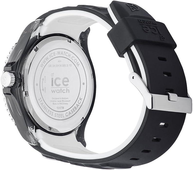 Mit White Ice Black Schwarze Sporty 001451medium Silikonarmband Herrenuhr EDWYHI29