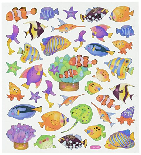 Multi-Colored Reef Fish Stickers