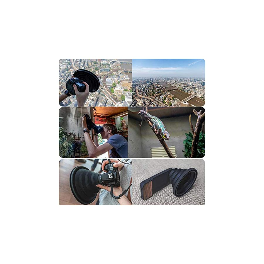 BYIA Phone Camera Lens, Protable The Ultimate Lens Hood Take Reflection Free Photos Videos for Photographers