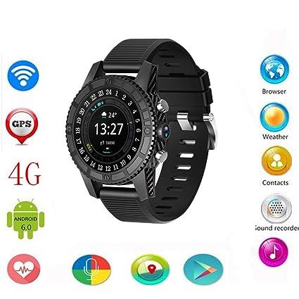 Android 7.0 4G Reloj Inteligente Hombres, I7 1GB + 16GB Monitor Inteligente De Ritmo Cardíaco