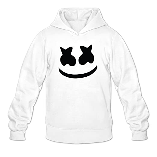 e0d92e4fc Amazon.com: Marshmello face Men's Plain Sweatshirts Hoodie White: Books