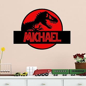 Amazoncom Dinosaur Wall Decal Jurassic Park Personalized Vinyl - Custom vinyl wall decals dinosaur