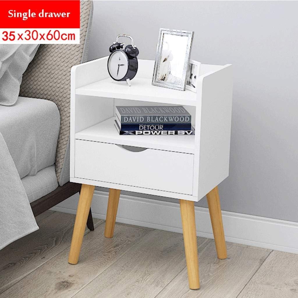 引出しが付いている枕元のキャビネット、寝室のためのナイトテーブルランプの机 (Color : E)