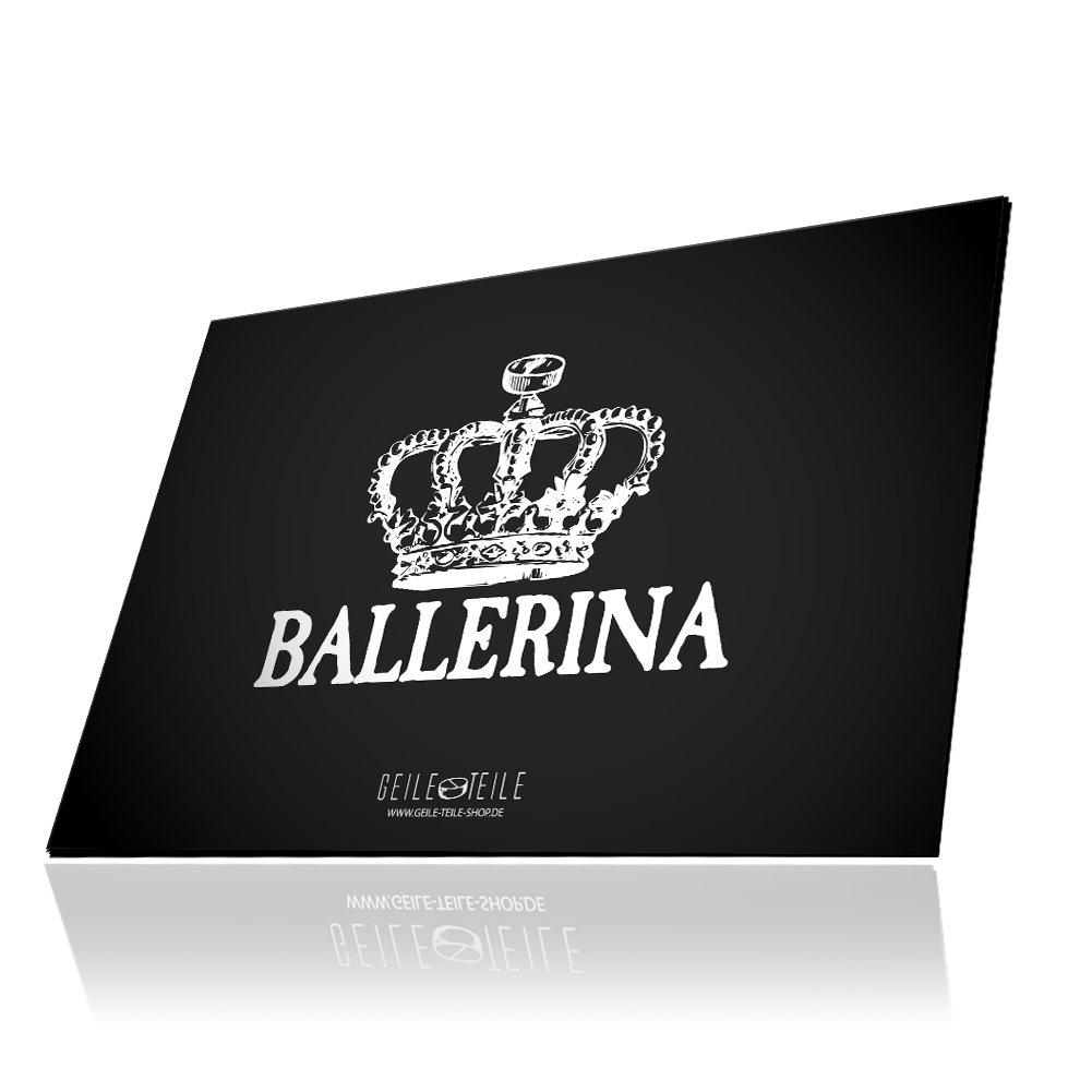 GEILE TEILE Acrylglasplatte, Glasplatte, mehrere Motive (Ballerina)