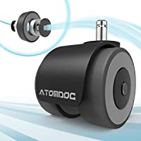 ATOMDOC Office Chair Caster Wheels, Newly Revolutionary Quadruple Ball Bearing Design,Heavy Duty & Safe Protection for…