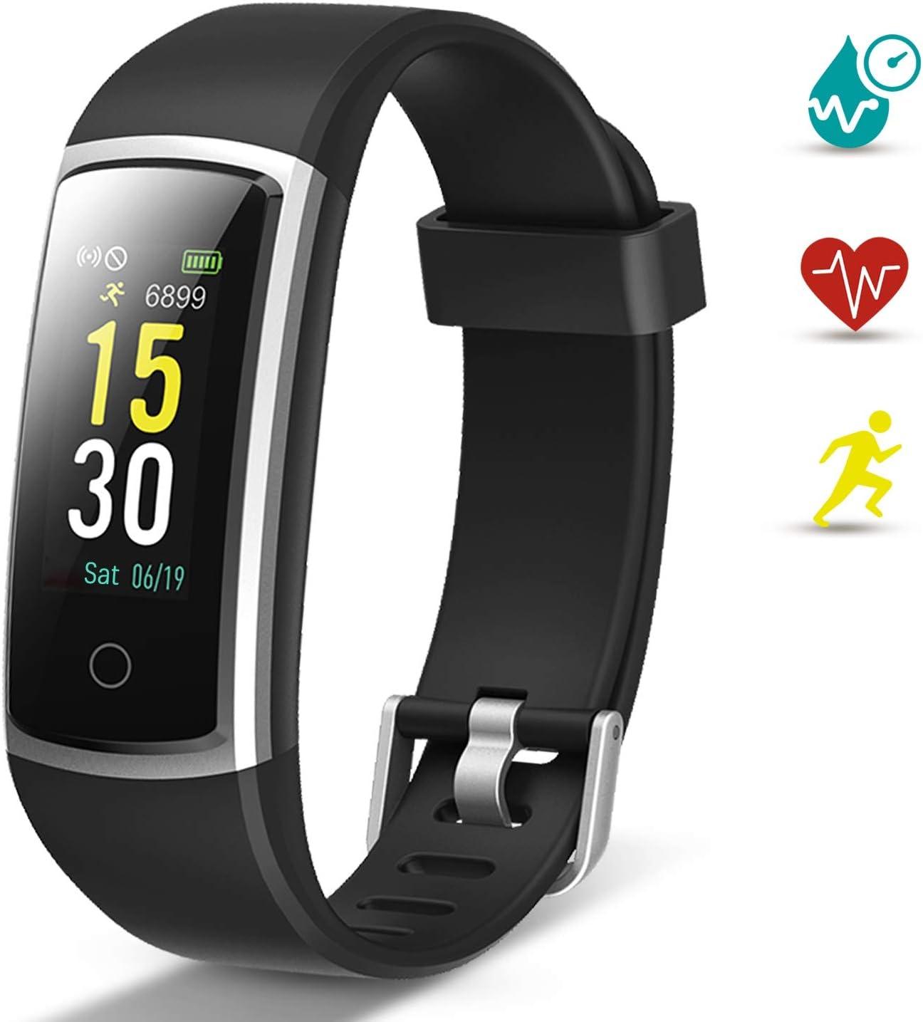 Lintelek Pulsera Actividad, Reloj Inteligente con Medidor de Ritmo Cardíaco Presión Arterial, Reloj Deportivo Compatible a Android y iOS para Hombre Mujer Niño: Amazon.es: Deportes y aire libre