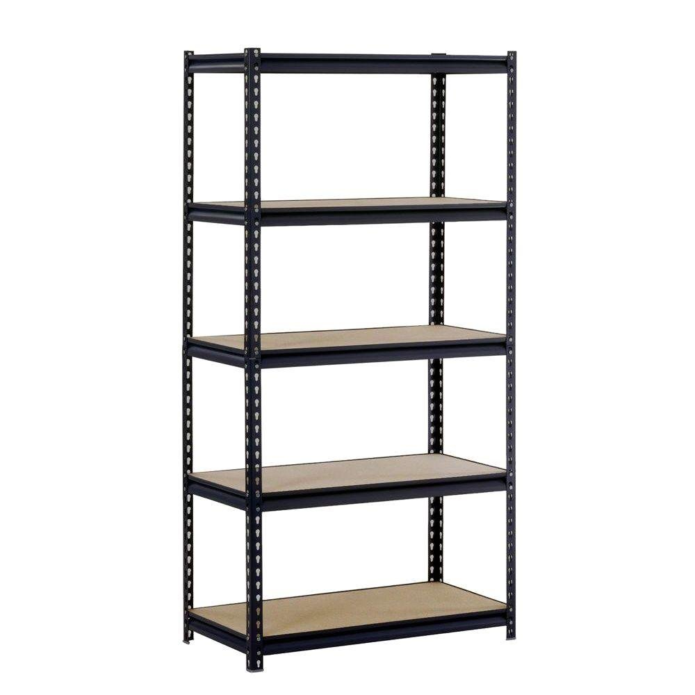 Edsal 5-Shelf Steel Commercial Shelving Unit in Black | 72 in. H x 36 in. W x 18 in. D by Edsal Product