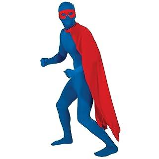 Wkd - Costume da supereroe con mantello rosso da uomo, taglia unica