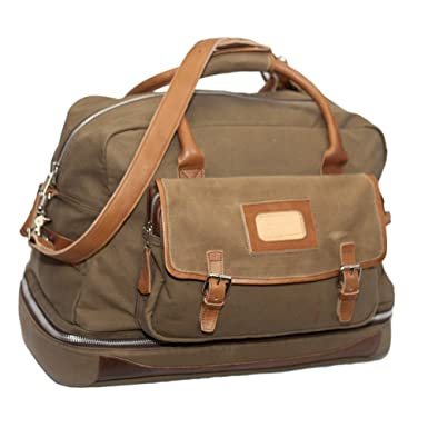 61774ed362b5 Amazon.com | Elkton Expedition Travel Luggage Bag - Waxed Canvas and ...