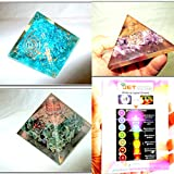 Jet Exquisite Three (3) Feroza Green Mica Amethyst Orgone Pyramid 1 each Best Offer Free Booklet Jet International Crystal Therapy Crystal Gemstones Copper Metal