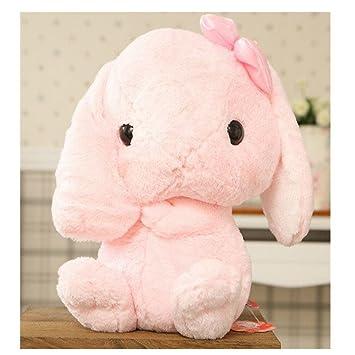 うさぎ ぬいぐるみ ロップイヤーかわいいウサギ 大きい縫いぐるみラッキー (30cm, ピンク)