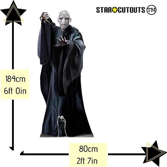 Star Cutouts Ltd SC1468 Lord Voldemort Ralph Fiennes Hogwarts, Fiestas mágicas y Fans de Harry Potter Altura 184 cm, Multicolor