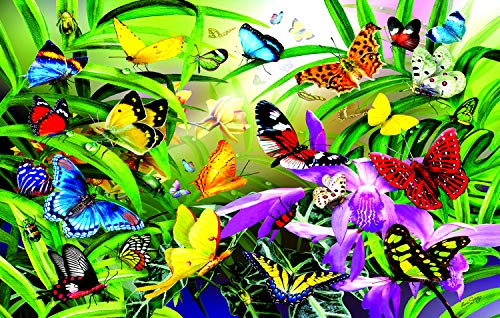 Sunsout 2019 Butterflies by Artist Lori Schory 30 Piece Butterflies and Insects Jigsaw Puzzle ()