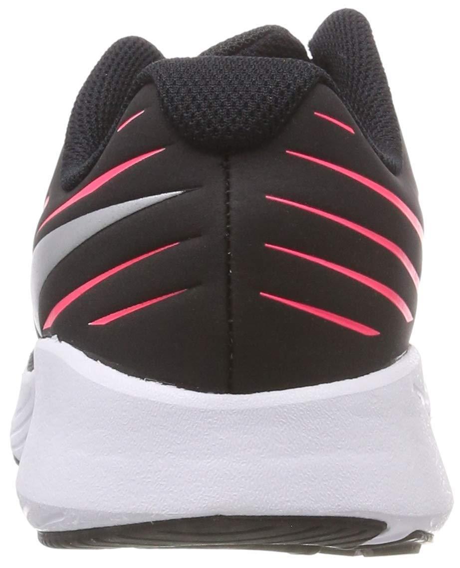 Nike Girl's Star Runner (GS) Running Shoe Black/Metallic Silver/Racer Pink/Volt Size 3.5 M US by Nike (Image #4)