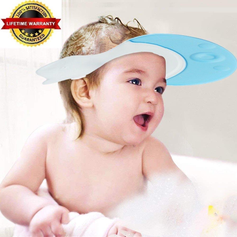 EZ-PZ Baby Bath Visor Caps – Adjustable, Comfortable, Soft, Flexible, Snug, Waterproof & Elastic Ring Hat – for Showers, Bathtub, Sun Bathing, Hair Cutting & Trimming, Pool, Beach, Toddlers & Infants EZ PZ Products
