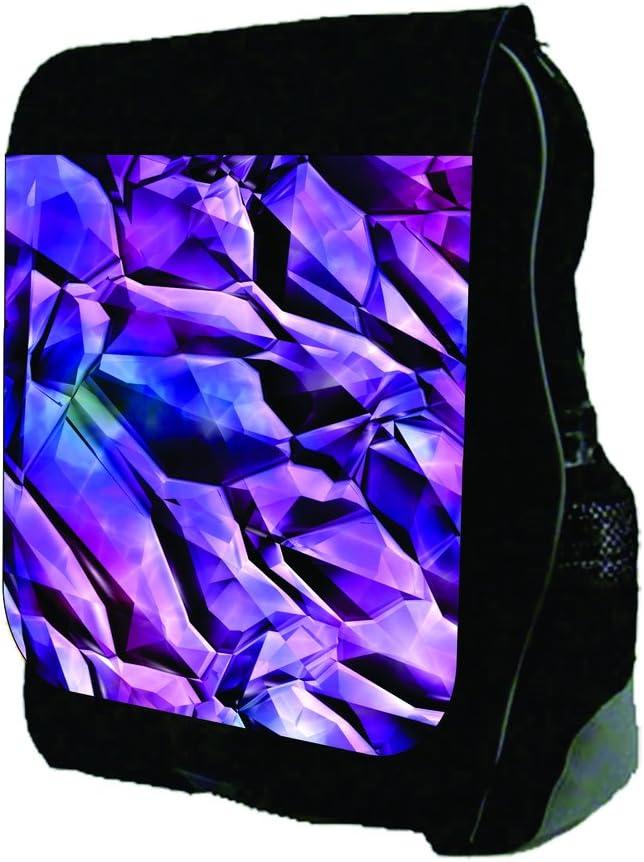 Crackle Shards Print Design TM School Backpack