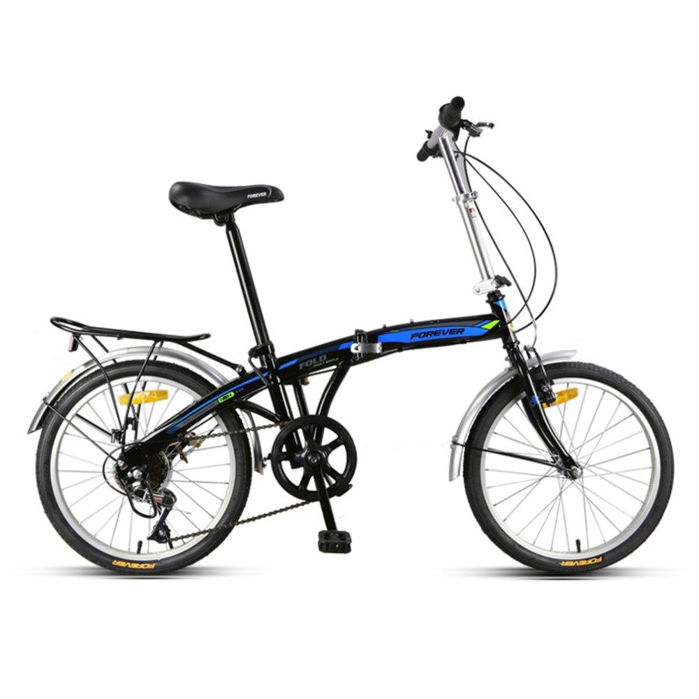大人 折りたたみ自転車, 折り畳み自転車 軽量 ポータブル 男女 高速 市 乗る 人を運ぶことができる 折りたたみ自転車 B07CZG7CV8Negro A 20inch