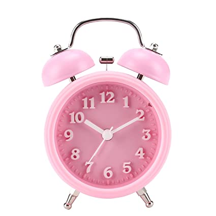 Reloj despertador para niños, [Actualización 2018] Reloj despertador con campana gemela de 4