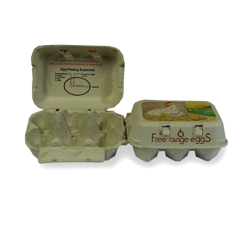Happy Chickens PRINTED FREE RANGE EGG BOXES 130 HALF DOZEN FOR MED /& LARGE EGGS