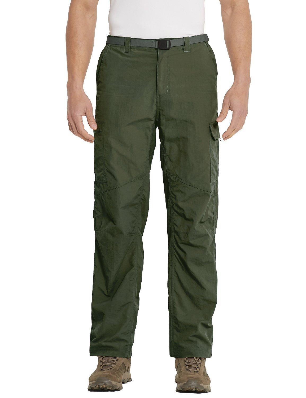 Baleaf Men's Quick Dry UPF 50+ Cargo Camo Pants Army Green 34W