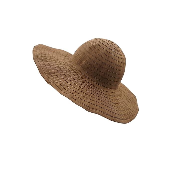 ae76ff8b7 Amazon.com: LLmoway Floppy Travel Sun Hats for Women Packable Big ...