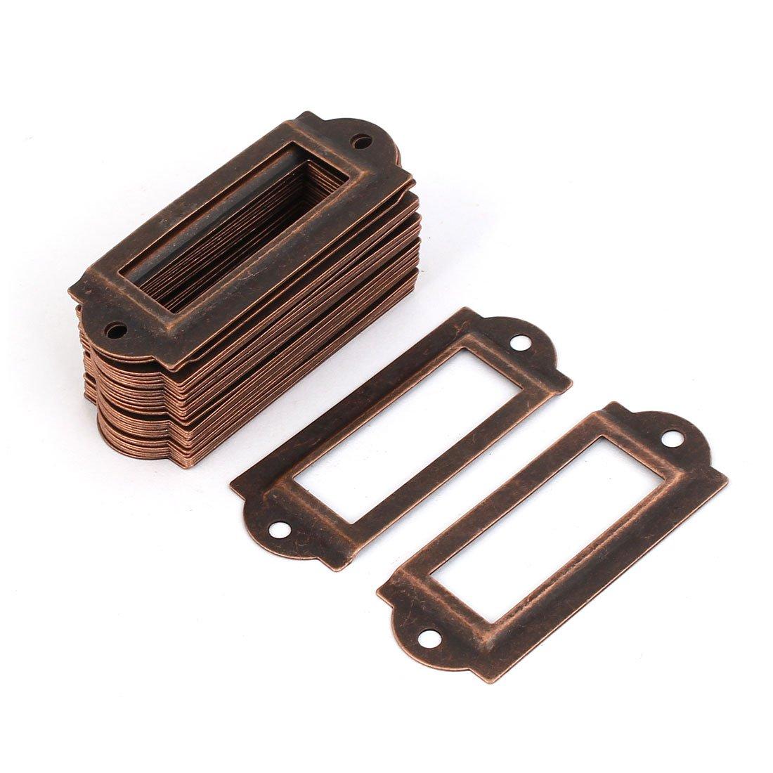 Organizador de cajones para tarjetas con nombre y etiqueta 30 piezas a16062000ux0458 Uxcell color cobre