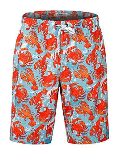 APTRO Men's Funny Swim Trunks Bathing Suits No Mesh #HW016 -