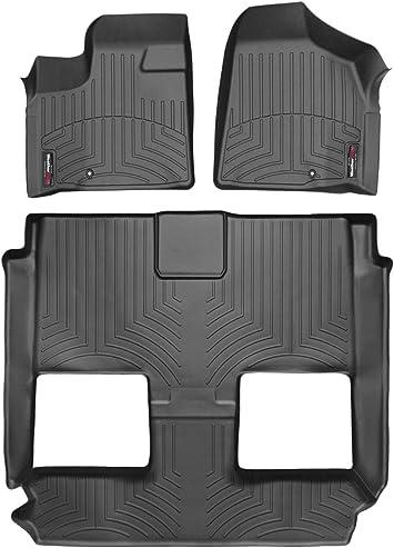 Black WeatherTech Custom Fit Rear FloorLiner for Chrysler Town and Country//Dodge Grand Caravan