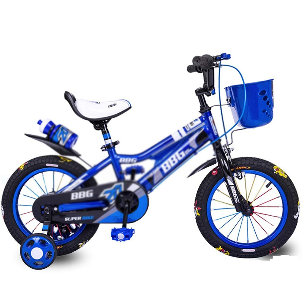 GXH- 子供用自転車、自転車用三輪車調節可能ハンドル、16インチ47歳の子供  Blue B07SCX2GQ7