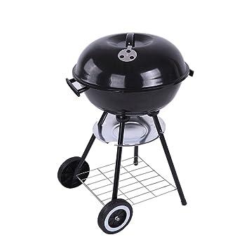 Camping Grill asado de doble propósito portátil plegable estufa de barbacoa de carbón de acero inoxidable