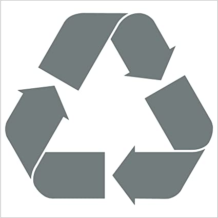 Amazon Crawford Graphix Recycling Symbol Vinyl Cut Out Sticker