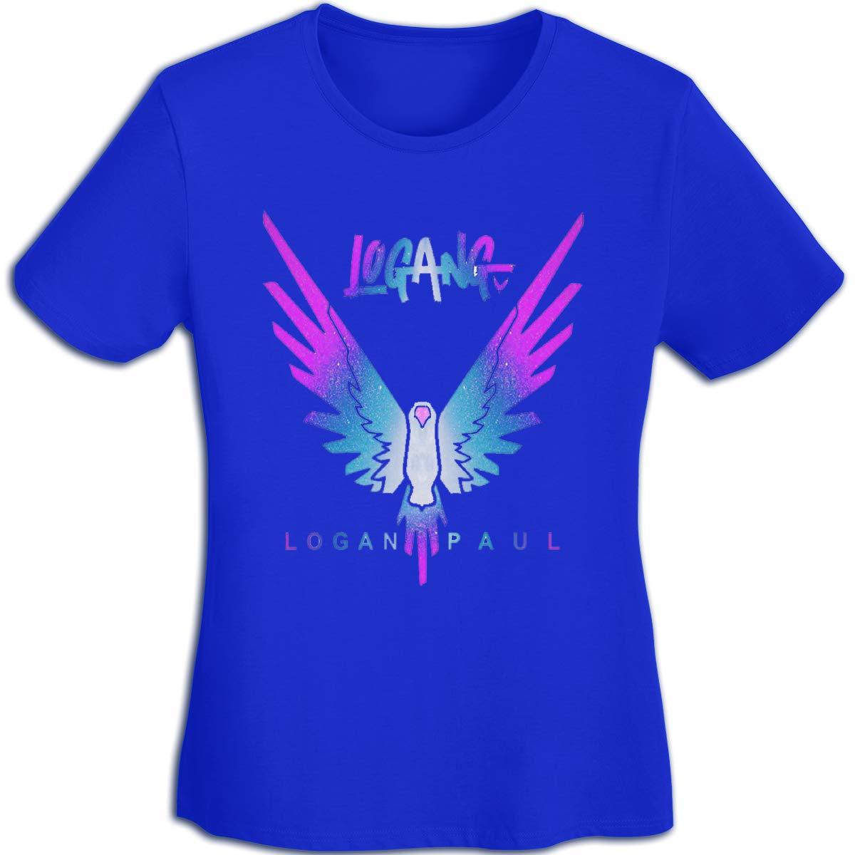 Women's T Shirt Jake Paul Logang Logan Paul Maverick Tee Shirts T-Shirt Short-Sleeve Round Neck Tshirt for Womens Girls Blue XL by BKashy
