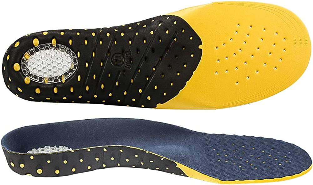 Naffic Plantillas ortopédicas de longitud completa con soportes para el arco Inserciones ortopédicas para pies planos, plantillas de zapatos para fascitis plantar, dolor en los pies……