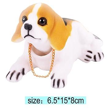 CUGLB Decoración De Coche Flotando Cabeza Beagle Diseño Asintiendo Con La Cabeza Perro Negro Blanco Marrón