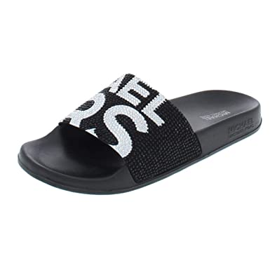 29b57ac42a04 Image Unavailable. Image not available for. Color  Michael Michael Kors  Womens Gilmore Slide ...