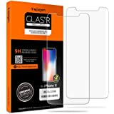 Spigen iPhone X Glas.tR Slim 2 Pack 3D Touch Tempered Glass Screen Protector - World Strongest